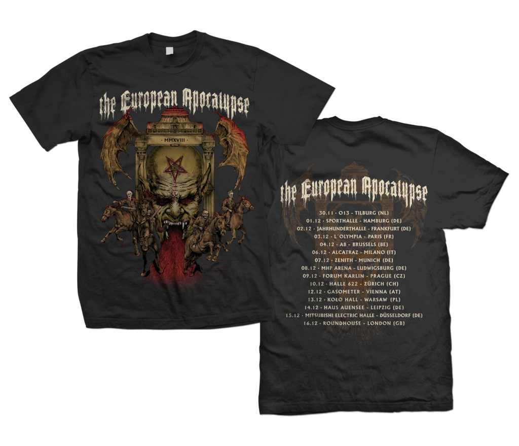 The European Apocalypse Tour 2018 - T-Shirt